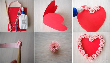 валентинка своими руками 1 этап