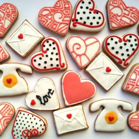 печенья валентинки