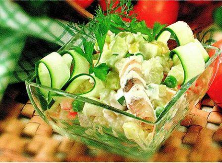 Салат из рыбы горячего копчения