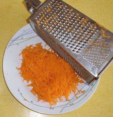 морковь на мелкой терке