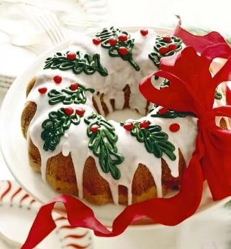 украшение десерта на новый год