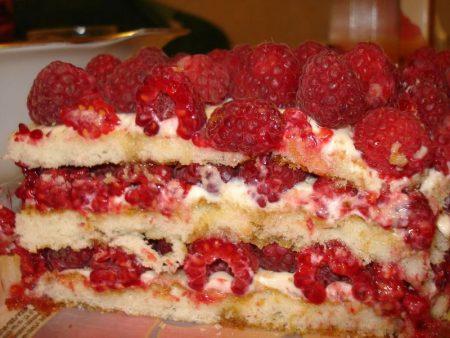 Рецепт приготовления пирога с малиной