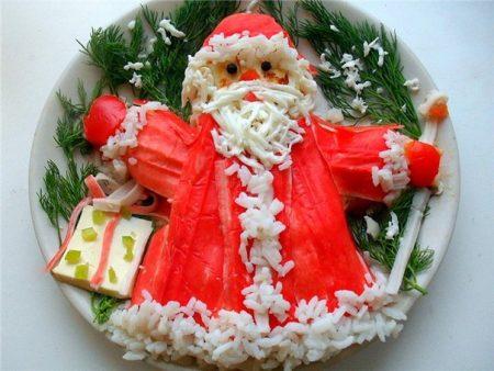 Рецепт приготовления салата «Дед Мороз»
