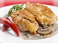 запеченные куриные бедра с грибами