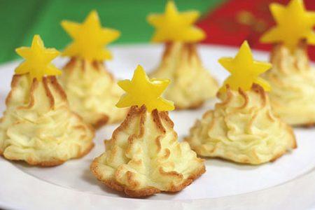 Рецепт приготовления закуски «Картофельная елочка»