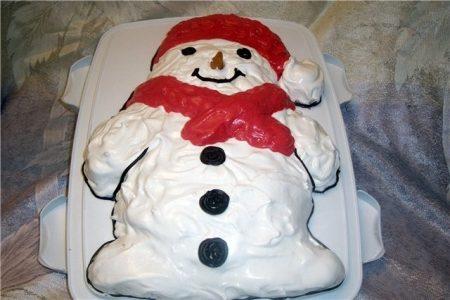 Рецепт для приготовления торта «Дед Мороз»