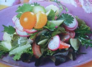 Рецепт приготовления овощного салата