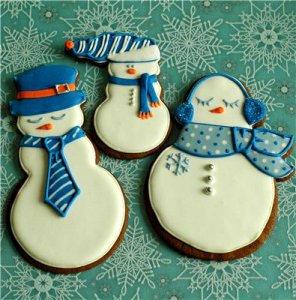 Рецепт приготовления печенья «Снеговик»