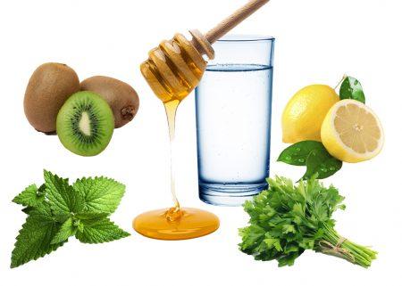 коктейль киви лимон петрушка