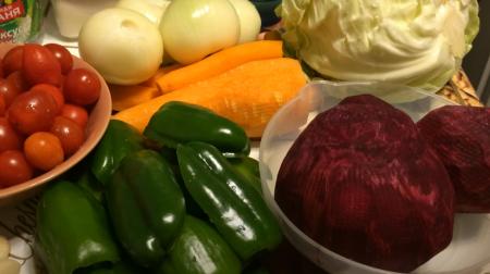 овощи для приготовления заправки для борща на зиму