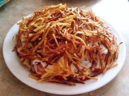 Слоеный салат «Блондинка»
