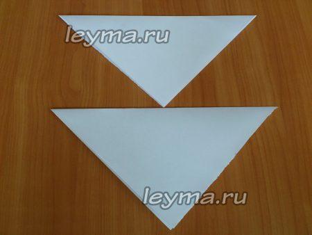Сгибаем в треугольник