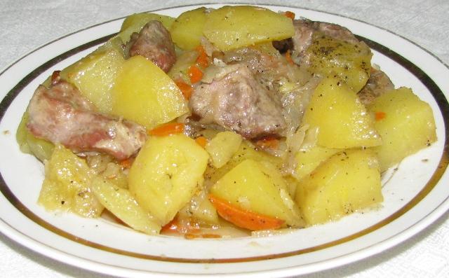 Как приготовить тушеную картошку без мяса