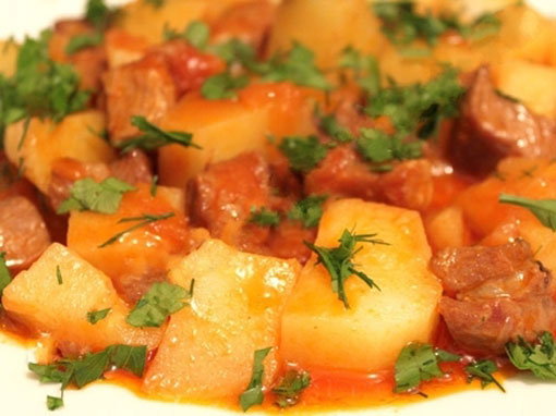 тушеная картошка как в детском саду рецепт с фото