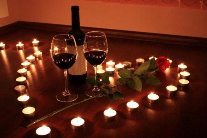 Фото ужина при свечах дома