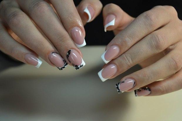 френч на ногтях с рисунком 2016 фото