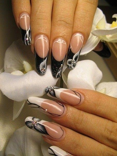 Дизайн ногтей френч 2016 современные идеи френч с рисунком