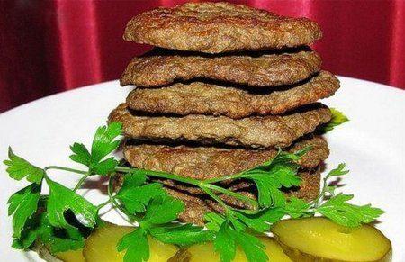 Оладьи из печени говяжьей- рецепт