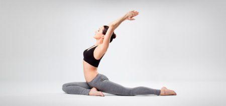 йога полушпагат