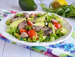 салат тунец с авокадо
