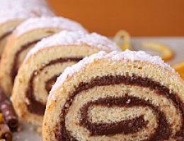 Орехово-шоколадный рулет