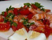 Миниатюра к статье Салат с креветками и помидорами